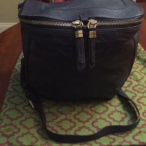 Oryany Leather Navy Blue Crossbody